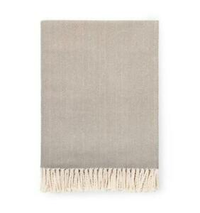 SFERRA  Herringbone Celine throw- 100% cotton Taupe