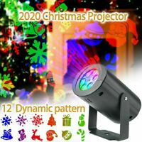 Christmas Laser Projector Light LED Moving Out/Indoor Landscape Lamp 12 Patterns