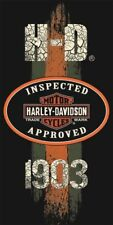 Harley Davidson Motorcycle Beach Bath Towel 30x60 1903 Approved