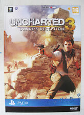 Uncharted 3 - A Thief´s End PS4 seltenes Store Promo Poster A2 Format gerollt