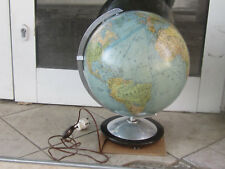 Rare Huge Vintage Illuminated Germany Earth Globe Nightlight lamp World-working