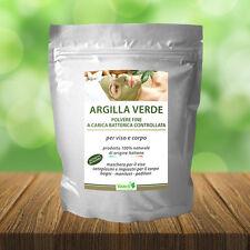 ARGILLA VERDE VENTILATA POLVERE FINE 1 KG, USO PROFESSIONALE, ORIGINE ITALIANA