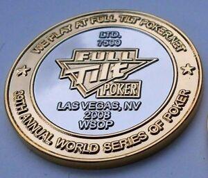 1 FULL TILT POKER WORLD SERIES OF POKER LAS VEGAS COIN CARD GUARD PROTECTOR WSOP