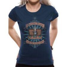 Ropa de mujer de color principal azul 100% algodón talla L