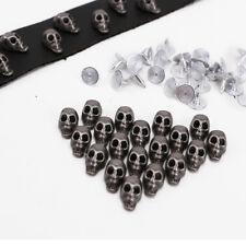 30x Skull Metal Rivets Studs Spot Button For Leathercraft Cloth Bracelet Handbag