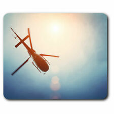 Computer Mouse Mat - Amazing Helicopter Pilot Fly Office Gift #3798