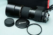 Nikon Nikkor AI-S  300mm f4 lens with soft bag and both caps and filter