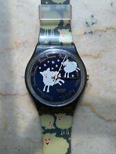 """orologio swatch STANDARD GENT modello """"BLACK SHEEP""""GN 150 anno 1995 USATO RARO"""