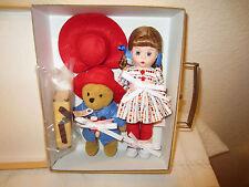 """Madame Alexander 8"""" Doll Wendy loves Paddington Bear Trunk set 50360 2010 new"""
