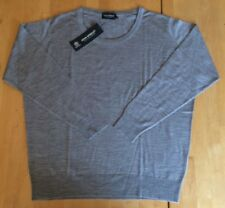 John Smedley Silver Grey Loose Fit 100% Merino Wool Round Neck Sweater XL
