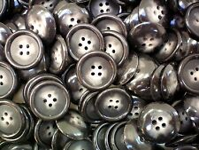 10 x 21mm marrone MAREZZATO Cappotto Giacca 4 Fori Bottoni da Cucire Maglieria CRAFT (cc1a) X