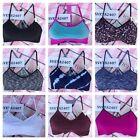 New Victoria's Secret Sports Sport Bra Bralette Strappy PINK Logo Neon Racerback