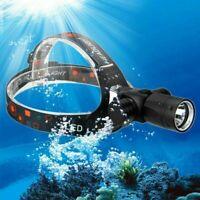 Power XM-L T6 LED Dive Scuba Headlamp Head Torch LAMP Underwater Waterproof 100m