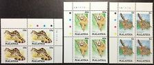 Protected animals of Malaysia 3v Blk of 4 corners Mnh 25.4.1985