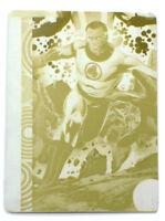 2013 Marvel Fleer Retro Mr. Fantastic Card #25 Yellow Printing Plate Metal 1/1