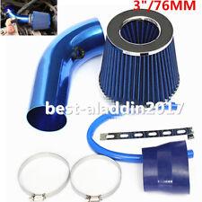 "3"" Car Auto Air Intake Kit Short Racing High Flow Alumimum Pipe + Filter + Clamp"
