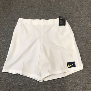 Nike Court Flex Ace NY Challenger Tennis Shorts AT4319 100 White Mens Size XL