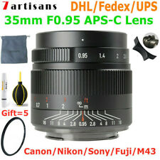 7artisans 35mm F0.95 APS-C MF Large Aperture Lens for Canon Nikon Sony Fuji M4/3