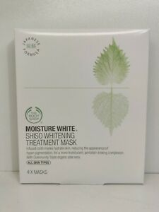 The Body Shop Moisture White Shiso Whitening Treatment Mask x 4 Masks