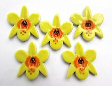 mosaic flowers shapes 5 yellow ceramicorchid tiles