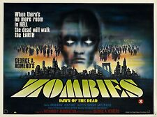 DAWN OF THE DEAD LAMINATED A4 MINI POSTER ROMERO ZOMBIES style 3