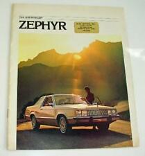 Old Car Sales Brochure For The Mercury Zephyr - 1978.