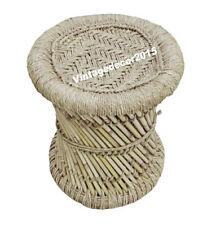 Hand makers Jute Natural Hand Made Bamboo Mudda Stool:  Home & Garden Decor