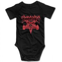 Thrasher Magazine logo infant Baby Boy Clothes One PIECE Bodysuit