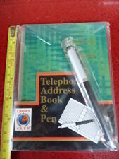 VINTAGE TELEPHONE ADDRESS BOOK & PEN