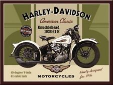 Magnet 14224 - Harley Davidson Knucklehead - 8 X 6 cm - Neu