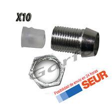 10X Soportes Cromados para LED 5 mm Portaled
