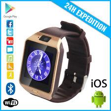 Original DZ09 Smart Watch Montre Facebook Bluetooth SIM Slot Android iOS Gold