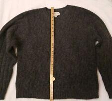Womens Crewneck Lambswool/Angora/Nylon Sweater - Grey - Size Xl
