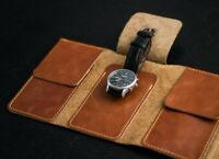 Leather watch roll, Travel watch roll, watch pouch, Watch case, watch storage