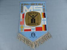 FANION PENNANT ICE HOCKEY SUR GLACE MS POLSKA KATOWICE 1976 WIMPEL BANDERIN