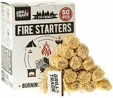 Grill Trade Firestarters - Natural Fire Starters Burn Wood Stove Grill...