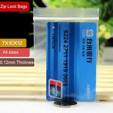 100pc 7*10cm Grip Seal Bags Self Resealable Mini Poly Plastic Clear Zip Lock Bag