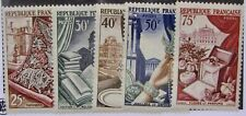 "FRANCE #711-15: MH ""Manufacturing Arts"" Complete set of 5"