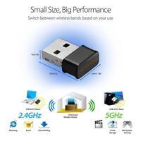 1200Mbps Dual Band 2.4/5Ghz Wireless USB WiFi Network Adapter 802.11AC w/Antenna