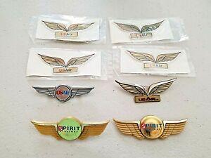 8 vintage US Air and Spirit Airlines Junior Pilot wings