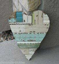 BiG Wood Plank Wall HEART*Blue*Green*Primitive/French Country/Farmhouse Decor
