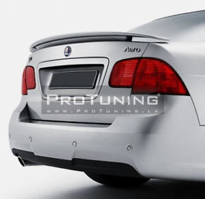 Rear Boot Trunk Spoiler Wing Splitter For Saab 9 - 5 MK1 Facelift 05-09