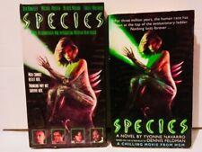 Species 1995 film (VHS and Yvonne Navarro Book) Natasha Henstridge
