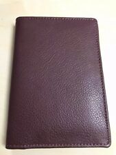 Leather Passport & Credit Card Holder Wallet Burgundy #FI4011
