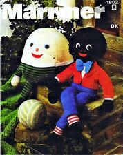 Retro vintage toy knitting patterns.  humpty dumpty   and doll