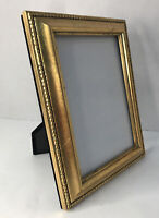 """Victorian Picture Frame Holds 5x7"""" Photo Gold Gilt Ornate Wall/Freestanding"""