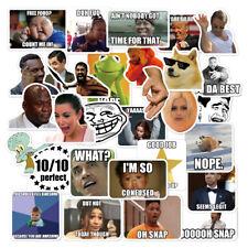 30 Meme stickers for laptop luggage sktateboard mug, USA Shipped, high quality!