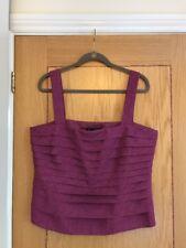 JACQUES VERT Women's Purple Layered Camisole Vest Top Size 18 - NEW