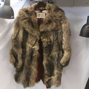 York Furrier Fox Fur Coat Small Mid Length Women AS IS POOR Condition