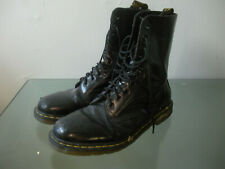 Dr. Doc Martens Black High Combat Boots 10 Eyelet Mens Size 12 US